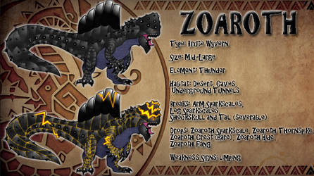 Monster Hunter Concept: Zoaroth