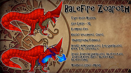 Monster Hunter Concept: Balefire Zoaroth