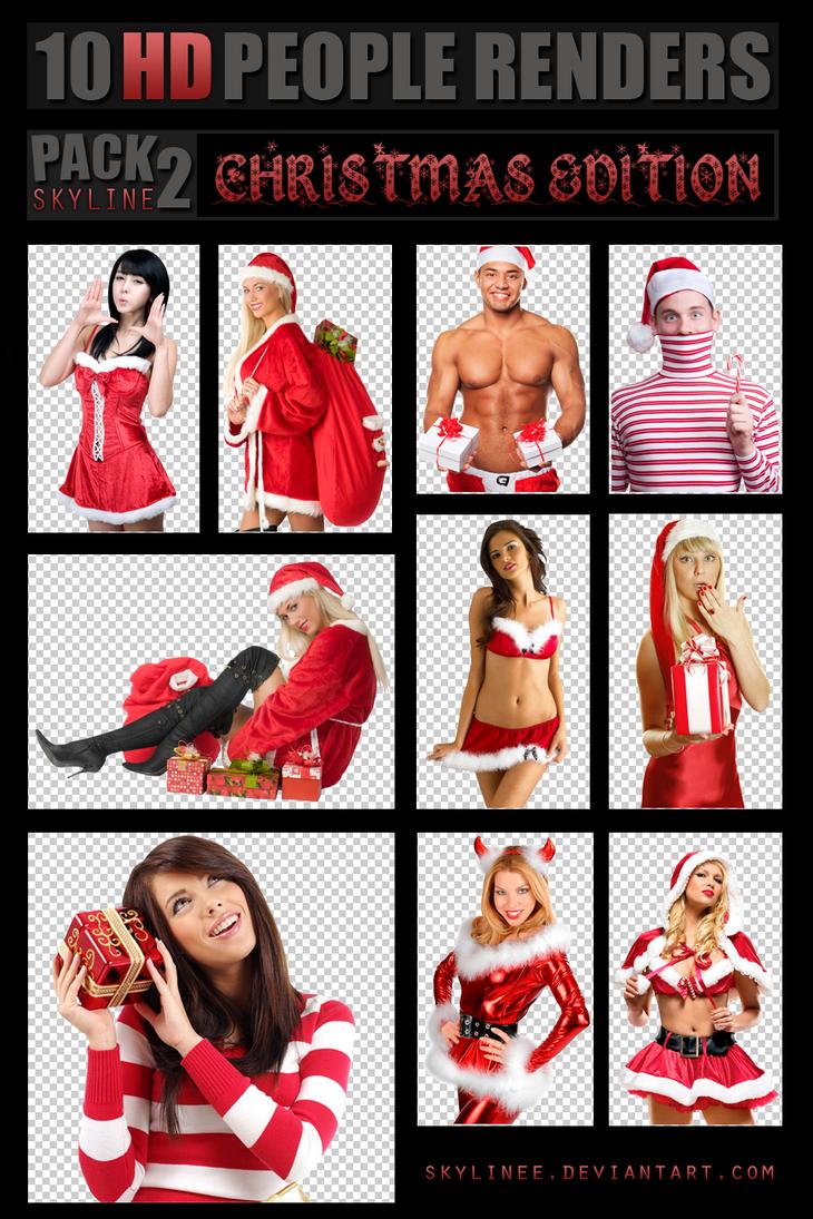 PEOPLE RENDERS PACK 2 ~ CHRISTMAS EDITION ~ HD by SkyLinee