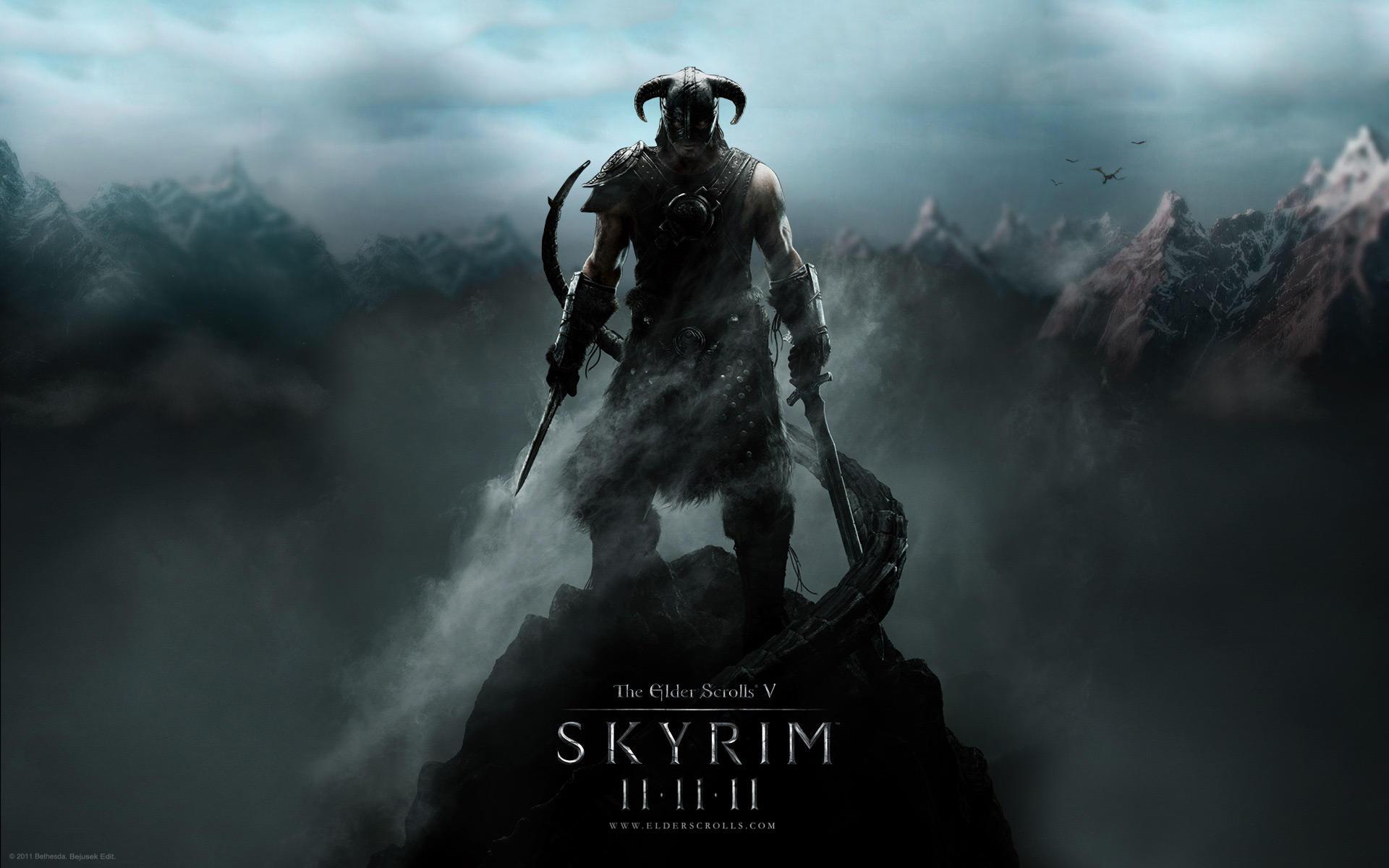TES V: Skyrim, wallpaper 2b by Bejusek
