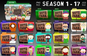South Park : TV Folder Icons by rohithkumarsp