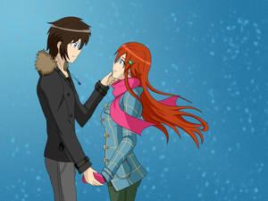 Haruko and Haruji winter