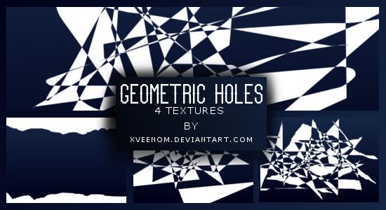 Geometric holes textures #1 by xveenom