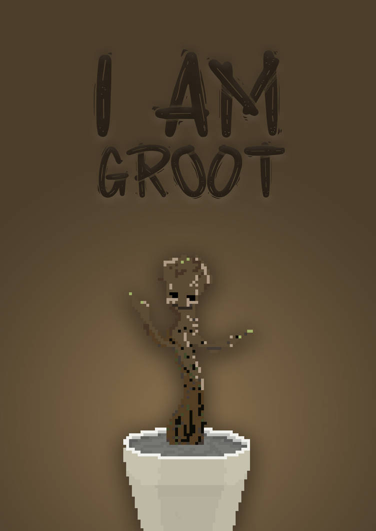 Groot Poster Pixel Art By Xveenom On Deviantart