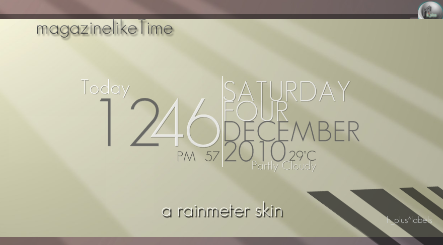 magazinelikeTime_Rainmeter by hpluslabels