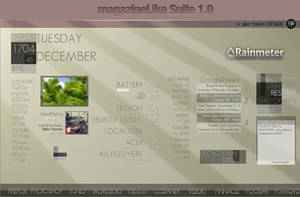 MagazinelikeSuite_rainmeter by hpluslabels