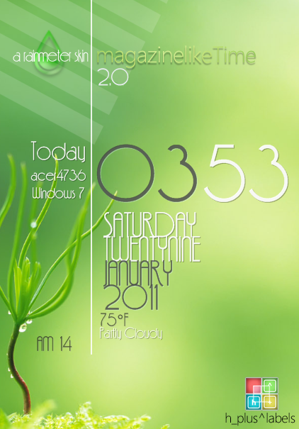 magazinelikeTime2.0_rainmeter by hpluslabels