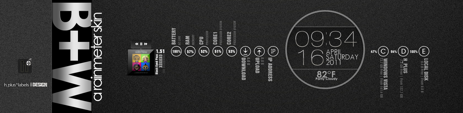B+W rainmeter by hpluslabels