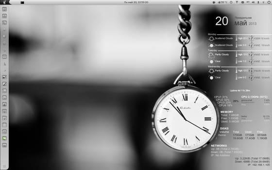 CAI Clock Conky (1280x800)