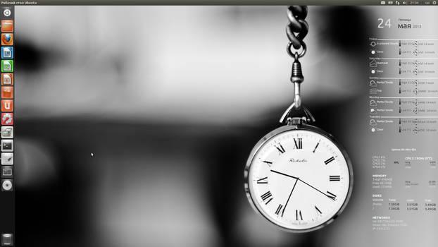 CAI Clock Conky for Ubuntu HiRes(1920x1080)