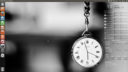 CAI Clock Conky for Ubuntu (1600x900)