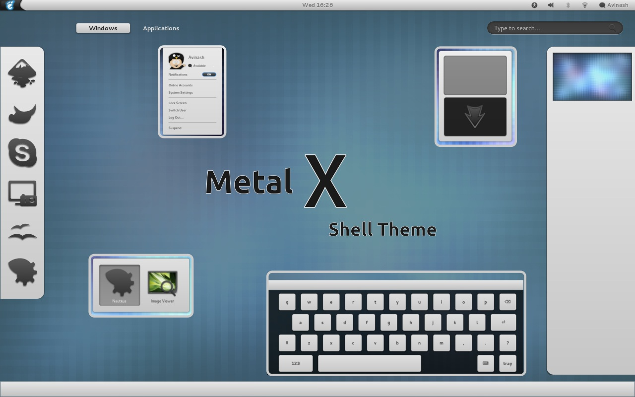 MetalX theme v.2.0 for Gnome 3.10