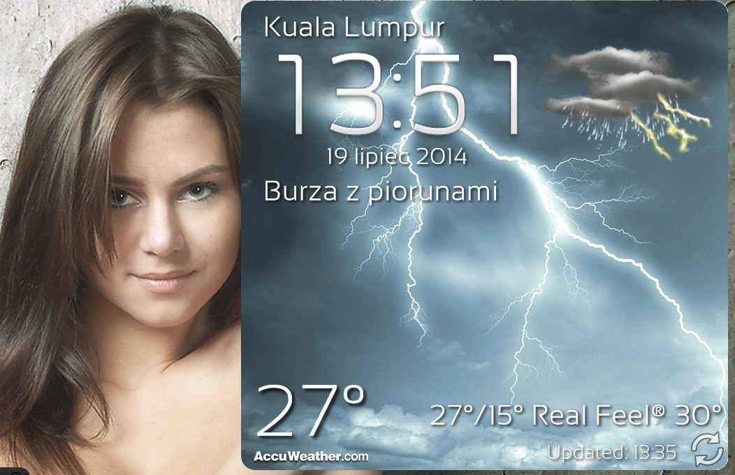 [Android][4x3] Real Weather Screen With Clock v2.0 by Slavoo123