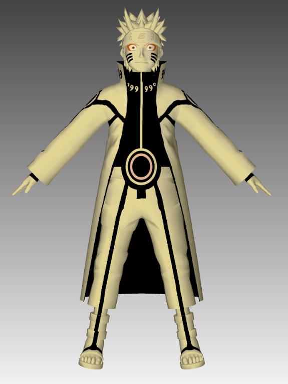 Naruto sennin bijuu 3d model by cr1t3r10n on deviantart for Deviantart 3d models