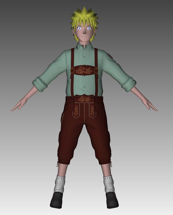 Naruto lederhosen 3d model by cr1t3r10n on deviantart for Deviantart 3d models