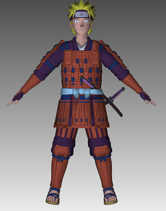 naruto samurai 3d model by cr1t3r10n on deviantart