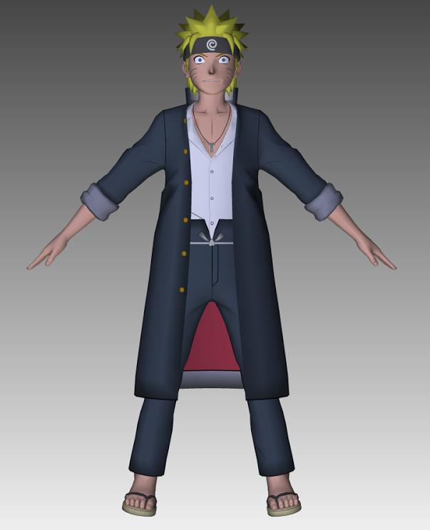 Naruto school uniform 3d model by cr1t3r10n on deviantart for Deviantart 3d models