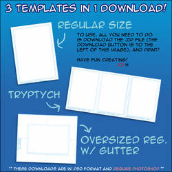 ATC ACEO + Sketchcard Template by xxdhxx