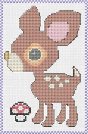 Deery Lou Cross Stitch Pattern by RaindropMelody
