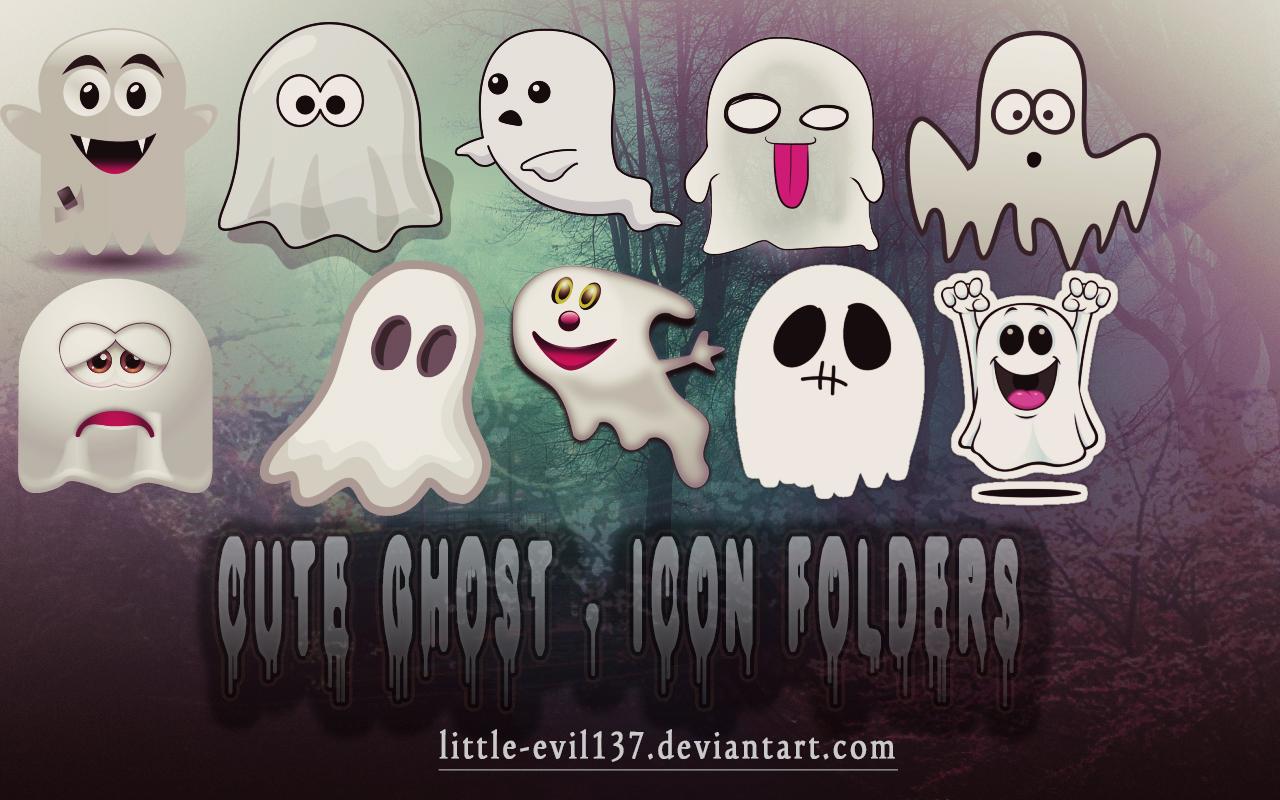 Cute Ghost - Icon Folders by Little-evil137 on DeviantArt