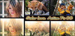 Solar burn   Action Ps CC