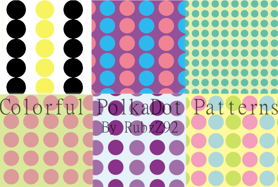 Colorful polkadot patterns by RubzZ
