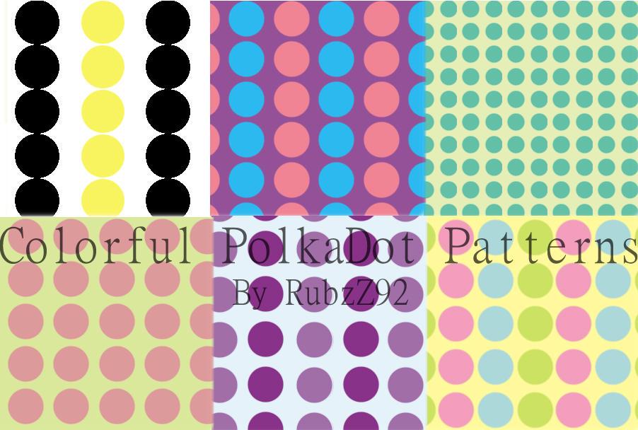 Colorful polkadot patterns by RubzZ
