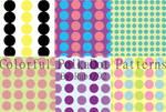 Colorful polkadot patterns
