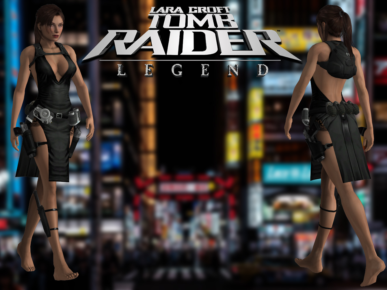 Tomb Raider Legend Ripped Party Dress Outfit By Lady Zomkie On