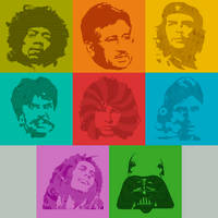 Pop Culture Faces Brushpack .1 by hefen