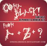 COMA BLACK Alphabet brush
