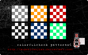colorfulcheck patternx6 by superjiaojiao