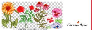 Print Flower PNGx12