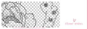 Flower Brushx3 by superjiaojiao