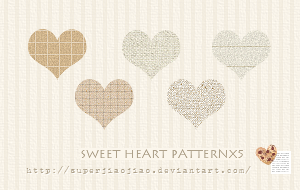Sweet Heart Patternx5 by superjiaojiao