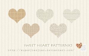 Sweet Heart Patternx5 by superjiaojiao