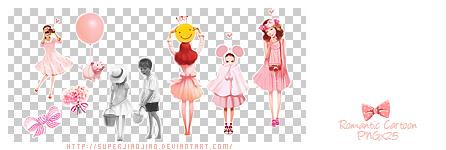 Romantic Cartoon PNGx25 by superjiaojiao