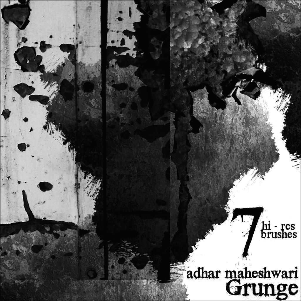 High Res Grunge Brushes! by AdharMaheshwari