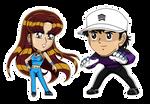 Animated Chibi: Genzo and Lily 2021 by Lily-de-Wakabayashi