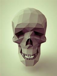 polygonal skull by Romanowsky