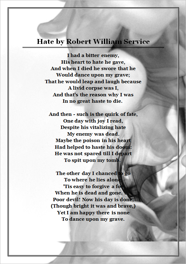 Hate, A Poem by debzb17