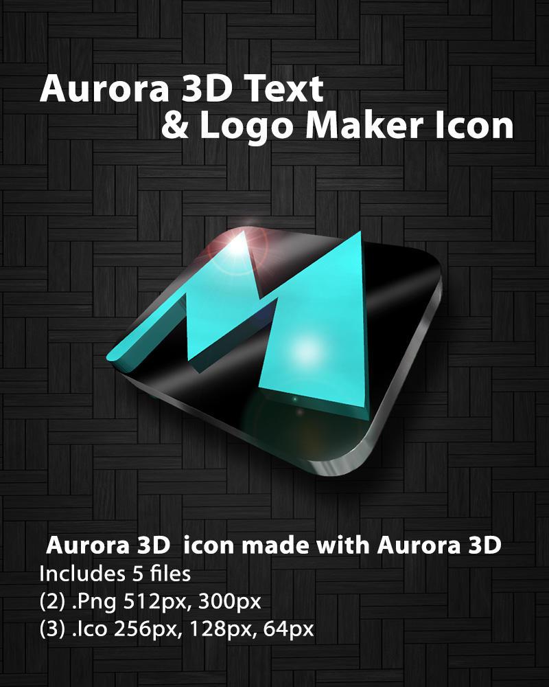 Aurora 3d Text Logo Maker Icon By Clownsox On Deviantart