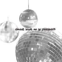 Disco Ball brush set by pinkblack08