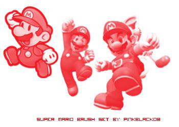 SuperMario Brush set by pinkblack08