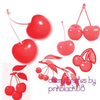 Cherry Brushes by pinkblack08