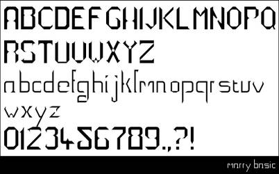 My first font_Marry basic