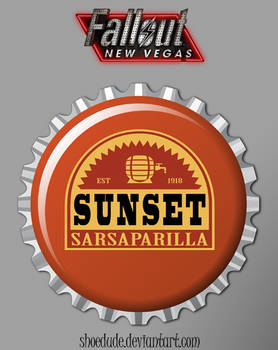 Sunset Sarsaparilla Bottle Cap