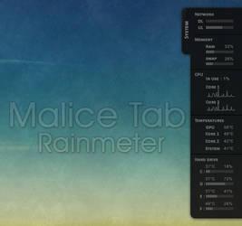 Malice Tab Rainmeter by amaeli