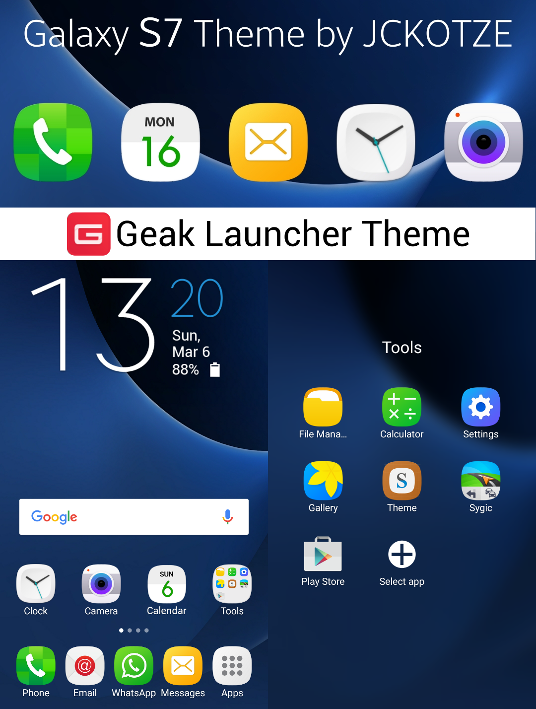 how to change theme color samsung s7