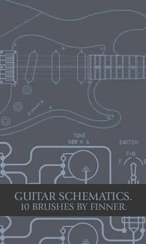 Guitar Schematic Brushset.